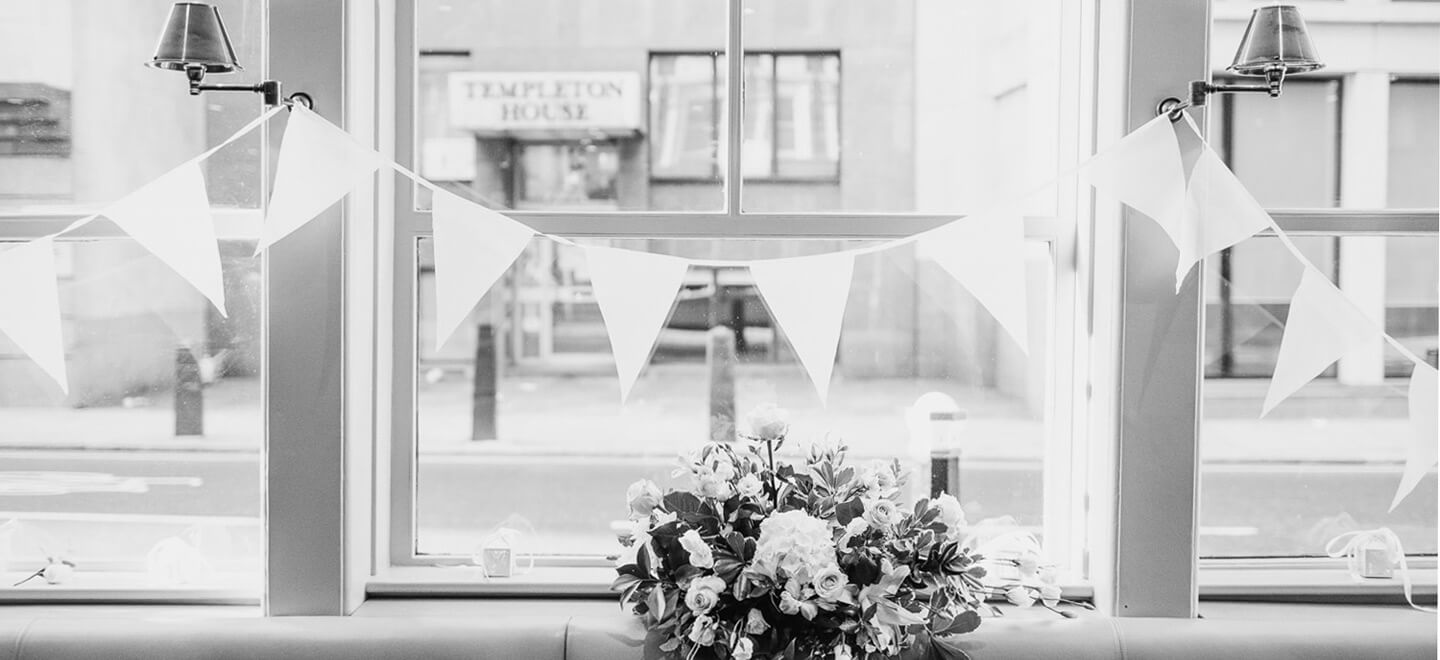 Chiswell-Street-Gay-Wedding-Venue-EC1-City-London-Wedding-Venue-the-gay-wedding-guide-city-wedding-bunting