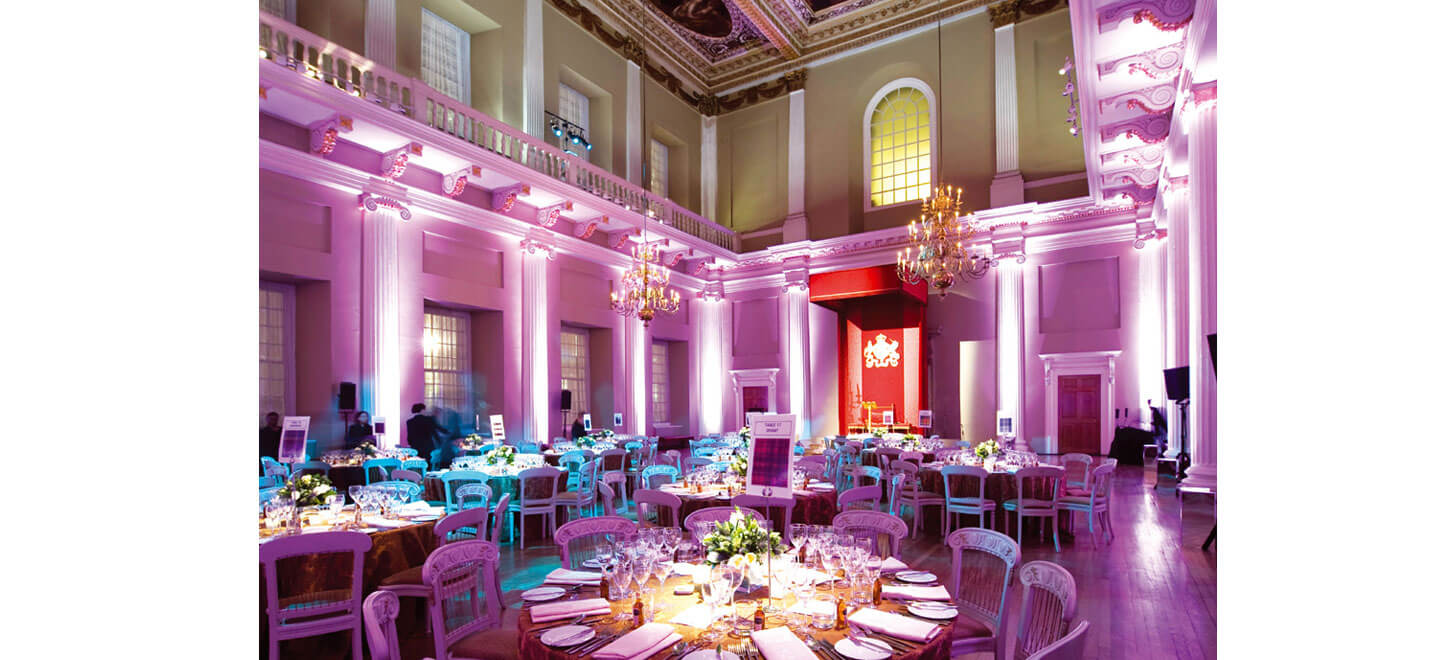 Dining-layout-at-Banqueting-House-a-Royal-Palace-Wedding-Venue-in-London-via-the-Gay-Wedding-Guide
