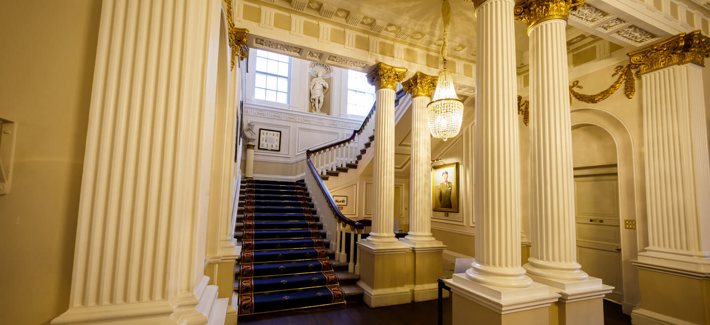 Inner-Hall-Stairwell-In-Out-Club-St-James-Park-London-Luxury-Wedding-Venue-SW1