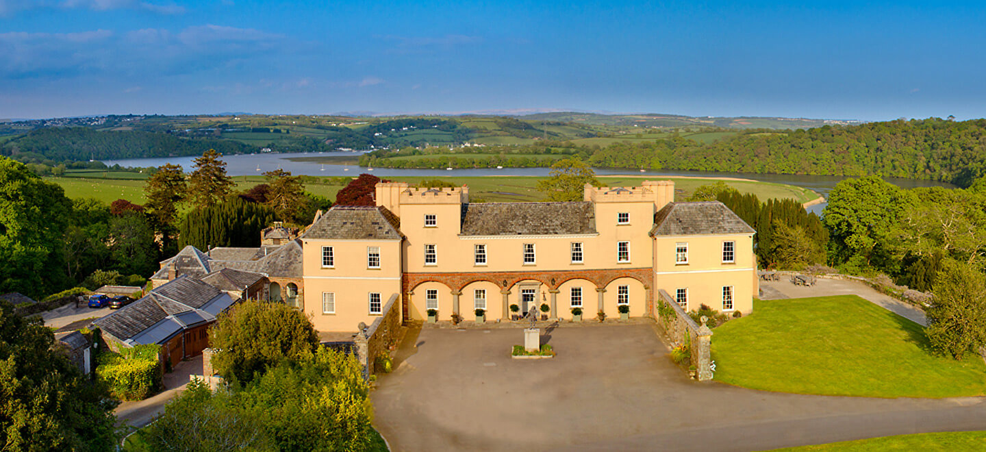 Pentille-Castle-Gay-wedding-venue-Cornwall-luxury-wedding-venue-PL12-Saltash-exterior-back