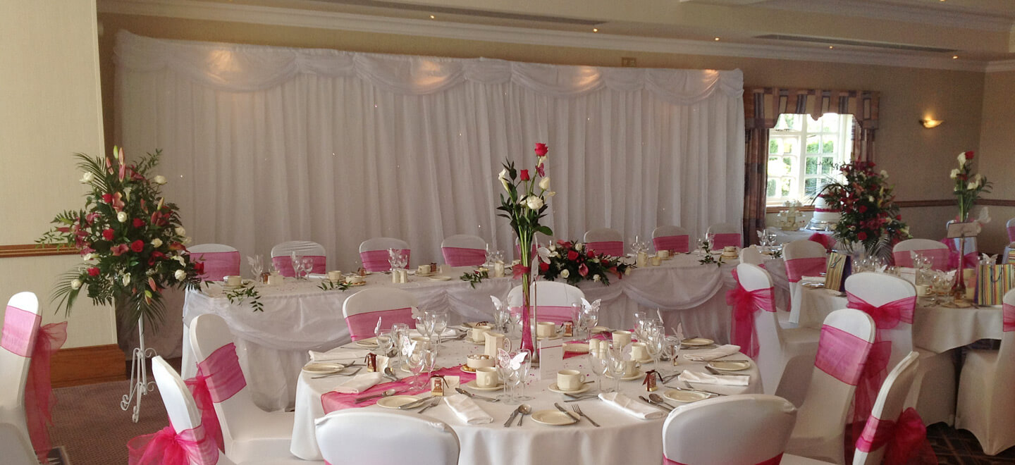 Pink-Wedding-Dinner-layout-at-Windmill-Village-Hotel-a-civil-wedding-location-birmingham-The-Gay-Wedding-Guide