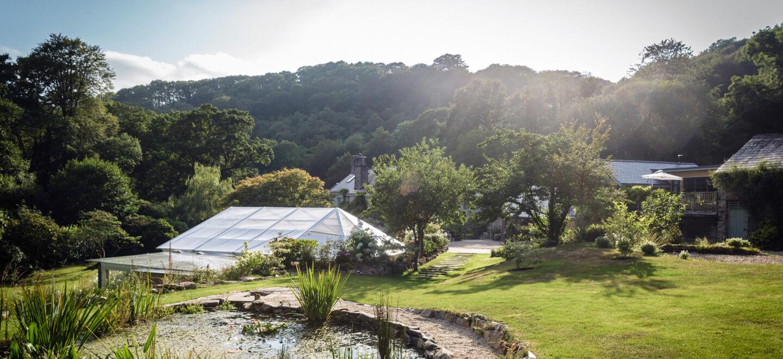 Pond-and-view-at-Ever-After-country-wedding-venue-Devon-PL19-a-Tavistock-wedding-venue-via-the-Gay-Wedding-Guide