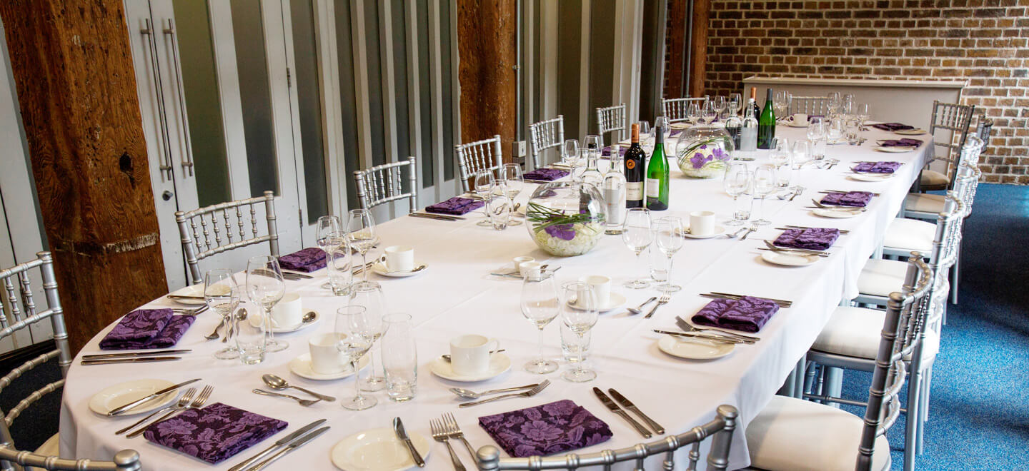 Purple-wedding-theme-Museum-of-London-Docklands-City-Museum-Wedding-Venue-London-Reception-Layout-Gay-Wedding-Guide