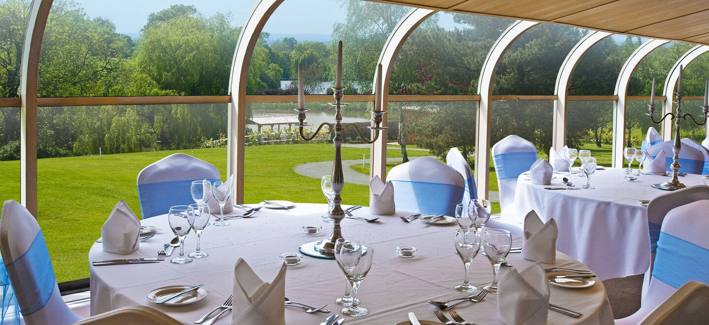 Wedding-breakfast-set-up-in-the-conservatory-at-Warley-Park-Brentford-Wedding-Venue-Esssex-via-The-Gay-Wedding-Guide1