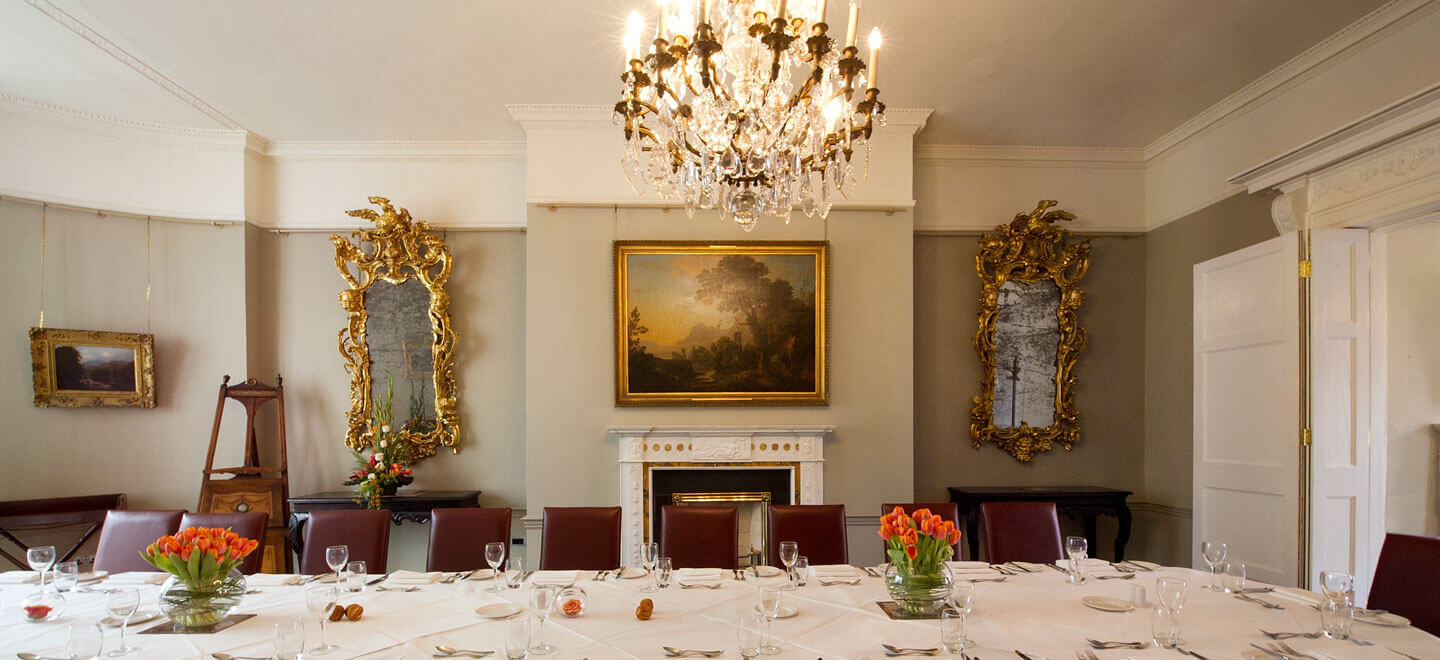 Boardrooom-dinner-layout-at-unique-wedding-venue-art-gallery-the-national-gallery-of-ireland-via-the-Gay-Wedding-Guide