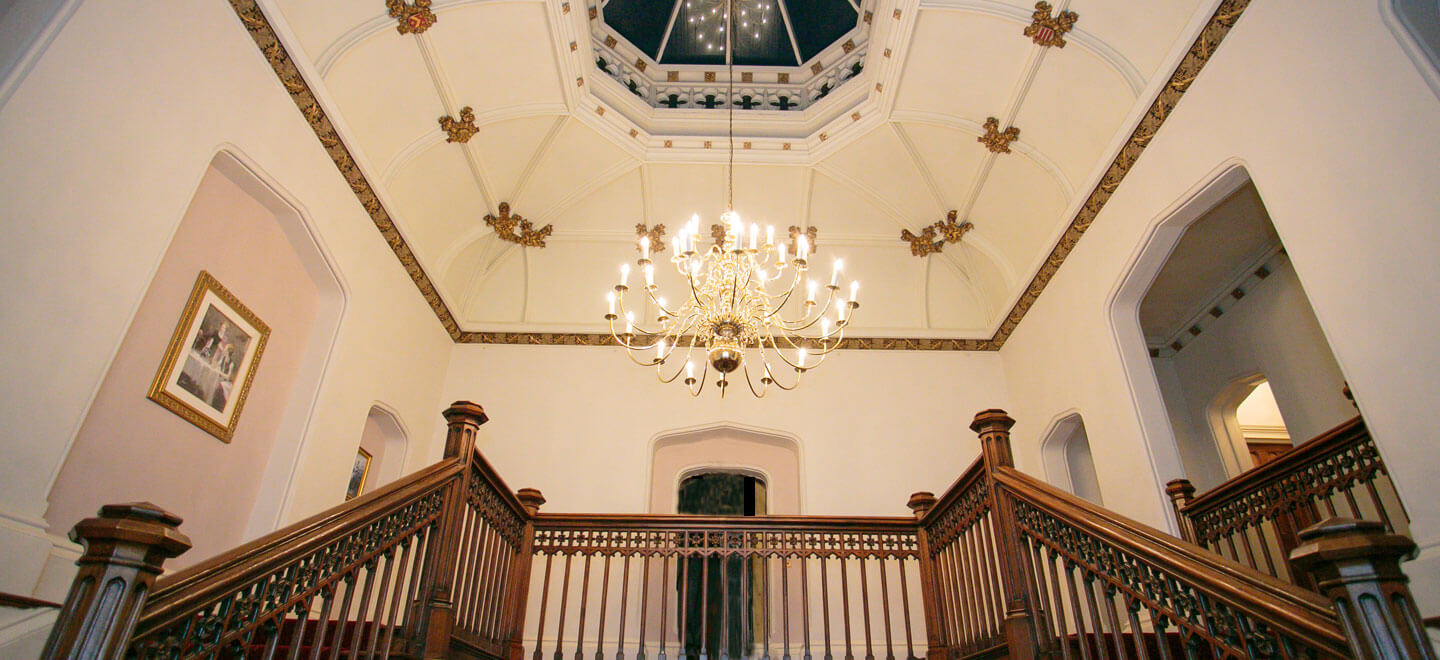 St-Audries-Park-Staircase-at-country-house-wedding-venue-in-Somerset-via-The-Gay-Wedding-Guide