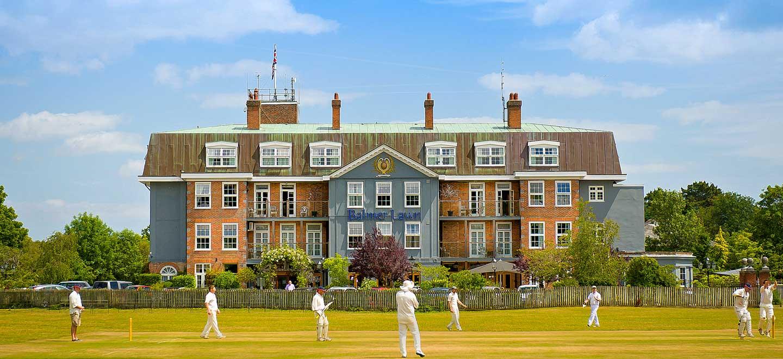 Cricket-in-front-of-Balmer-Lawn-Gay-wedding-venue-Brockenhurst-via-the-Gay-Wedding-Guide