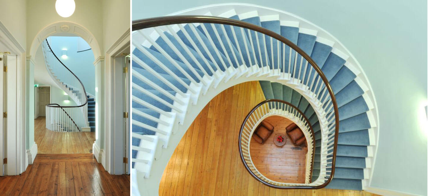 stairs-Lesbian-Wedding-at-Clissold-House-Stoke-Newington-Wedding-Venue-N16-via-The-Gay-Wedding-Guide