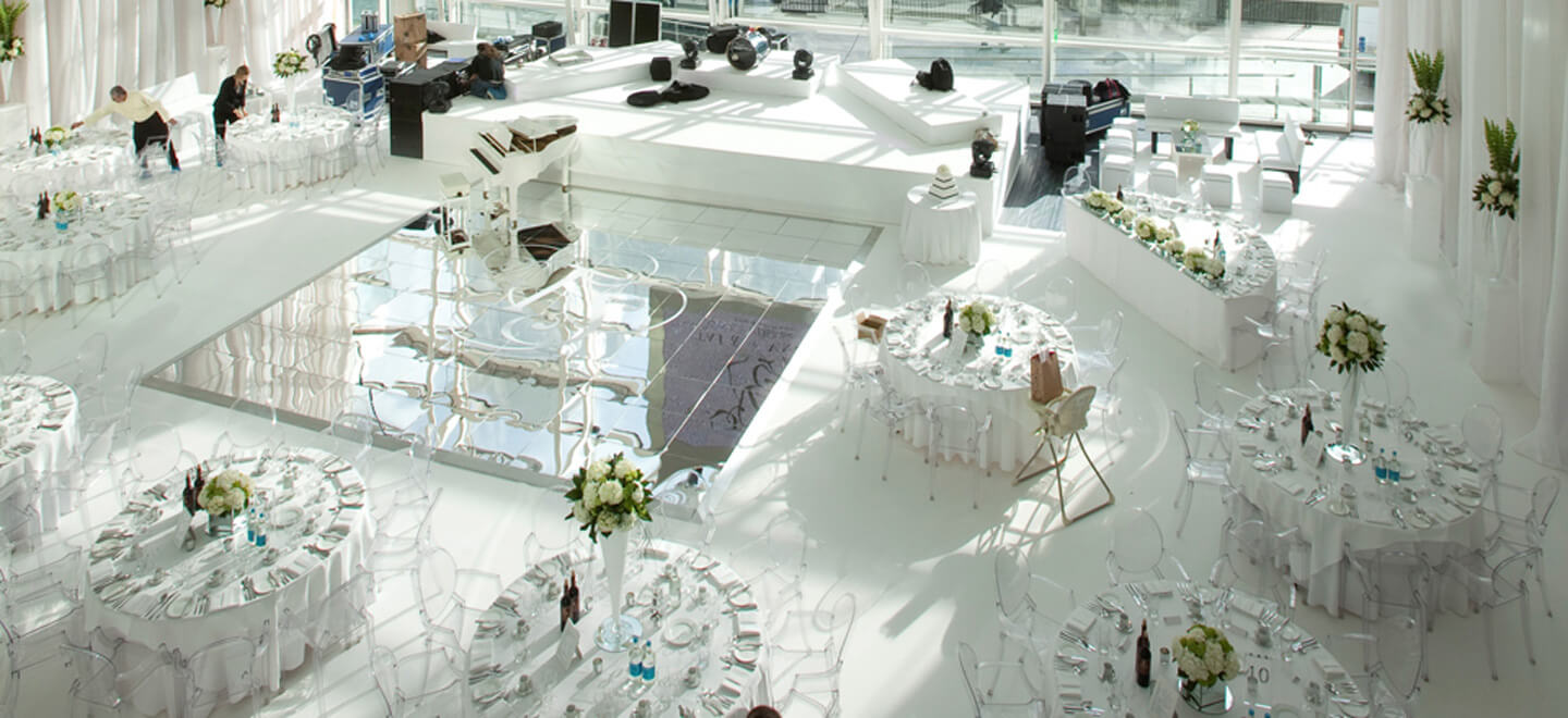 East Wintergarden Canary Wharf Wedding Venue E14 two