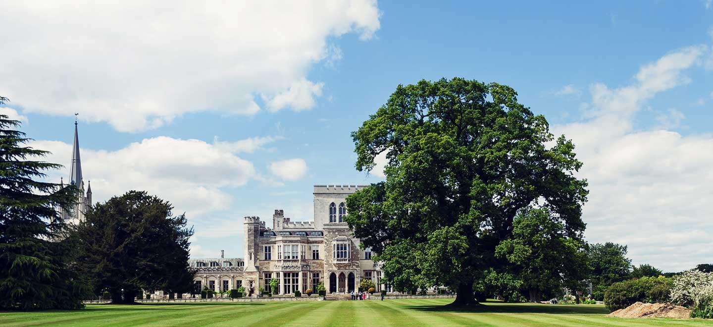 Garden at Ashridge House Castle Wedding Venue Hertfordshire via The Gay Wedding Guide