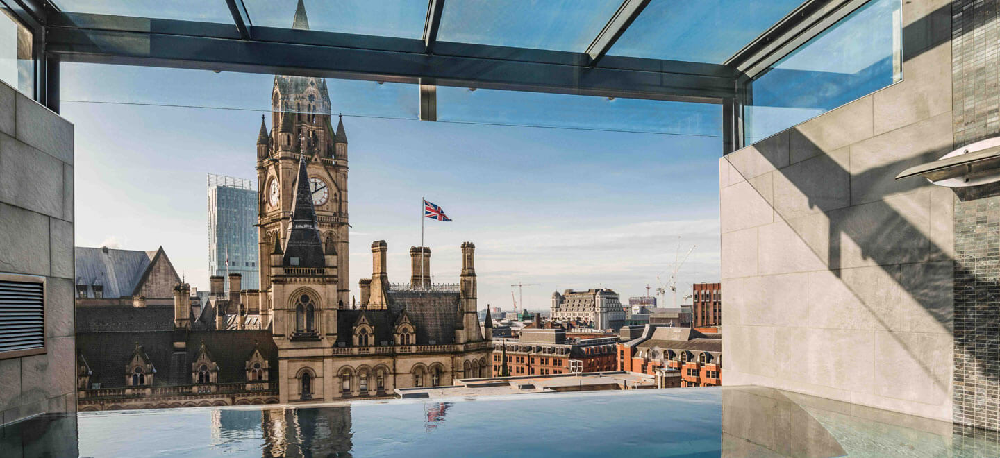 InfinitySpaPool at gay friendly wedding venue Manchester the KingStreetTownhouse v ia The Gay Wedding Guide