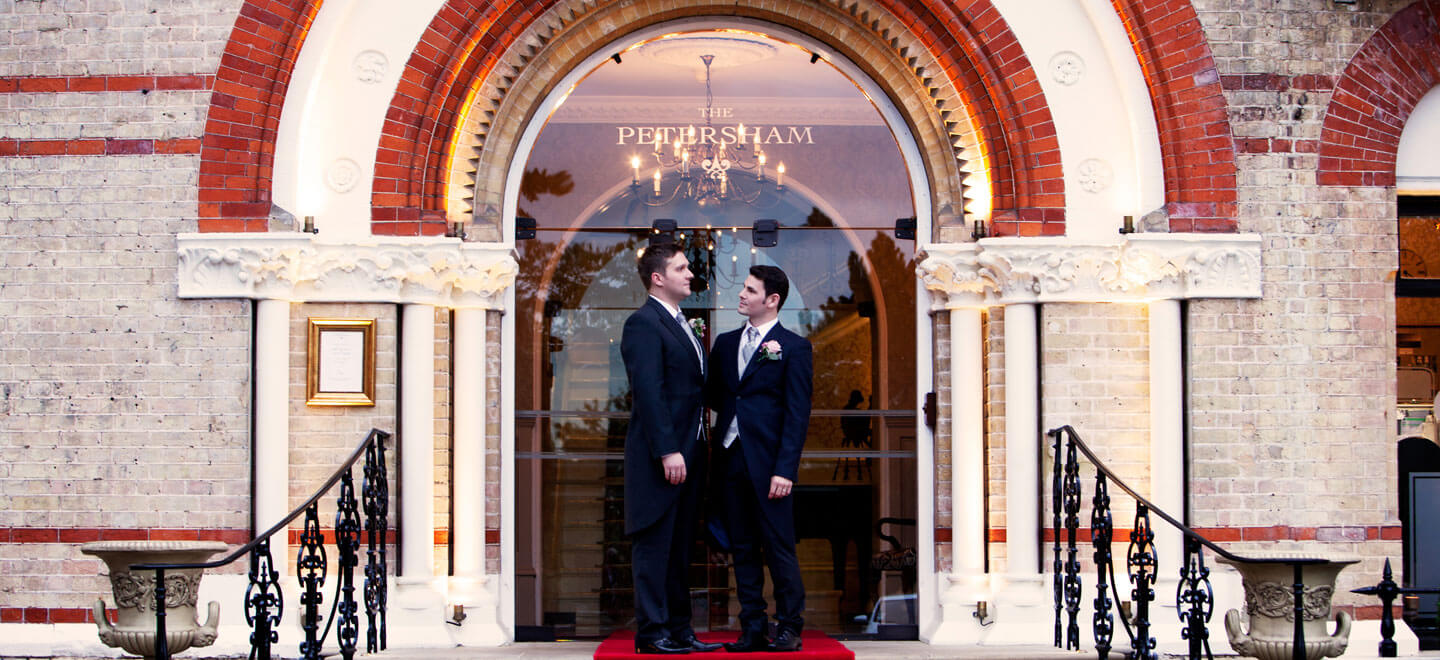 Same Sex marriage at The Petersham Hotel a Gay Wedding Venue Surrey featured on the Gay Wedding Guide