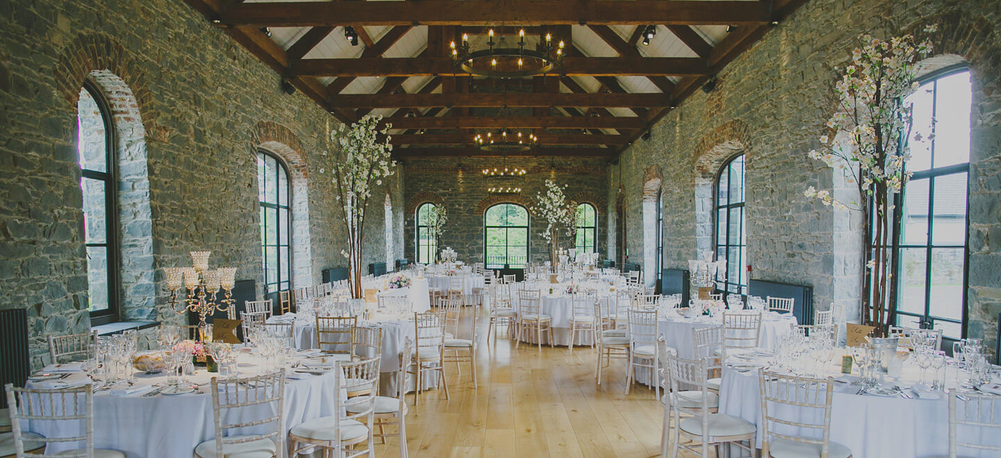 The Banquet Hall 3 at wedding venue ballynahinch the Carriage Rooms a barn wedding venue co down