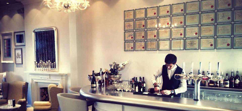 white bar at Amalfi White wedding venue Derbyshire gay wedding guide