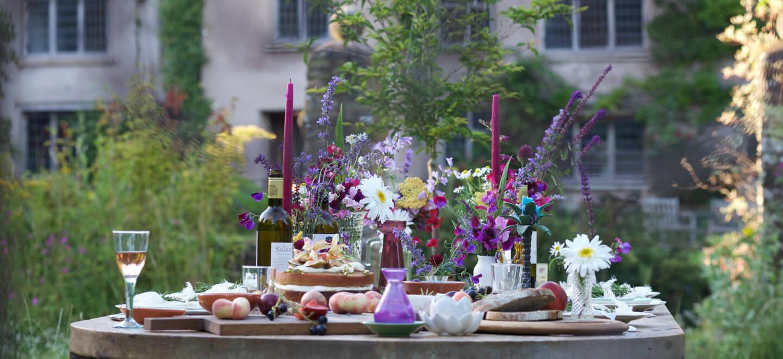 Hayne Barn rustic wedding table layout wedding venue Devon gay wedding guide 1