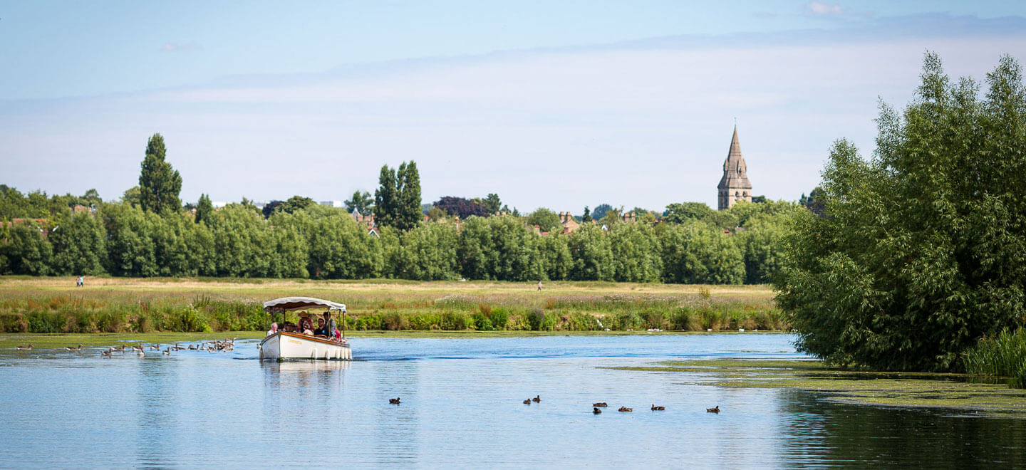 boat on the river by The Perch rustic Wedding venue oxford Gay Wedding Guide 1