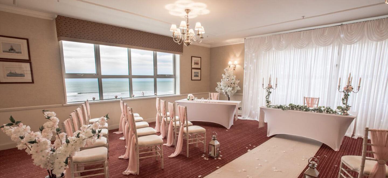 1440 Ceremony layout at Sunderland hotel gay wedding guide 1