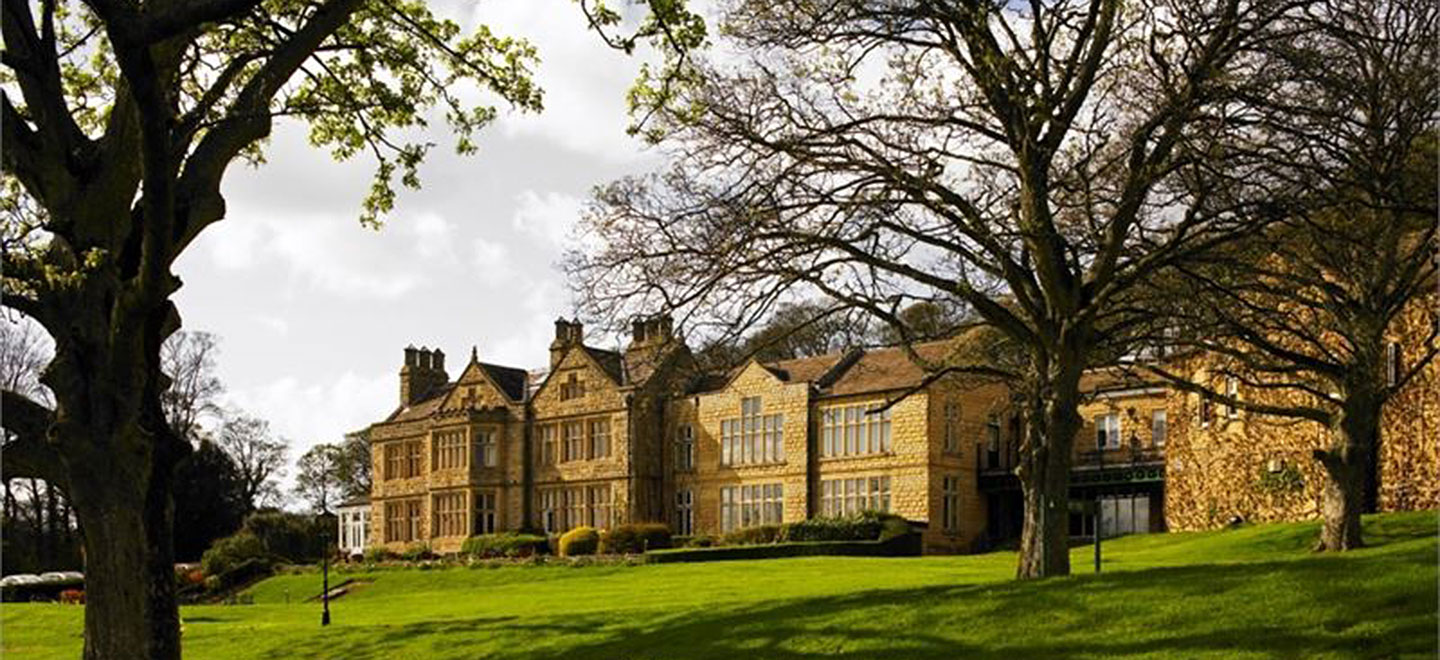 eXTERNAL VIEW OF Hollins Hall country house wedding venue bradford gay wedding guide