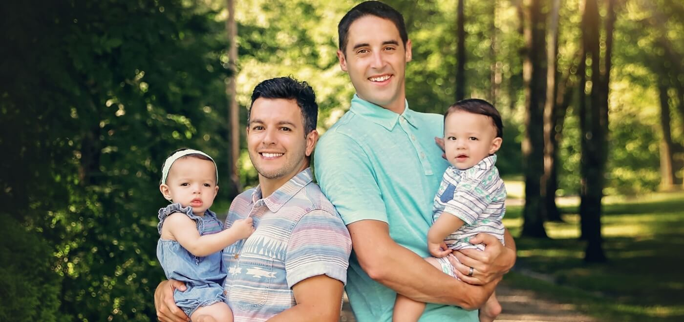 1440 Gay Parenting gay dads Nick and Shawn and their twins gay wedding guide 1