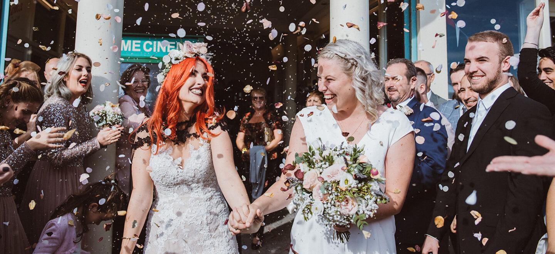 2 Worthing Dome Wedding Lesbian confetti 1