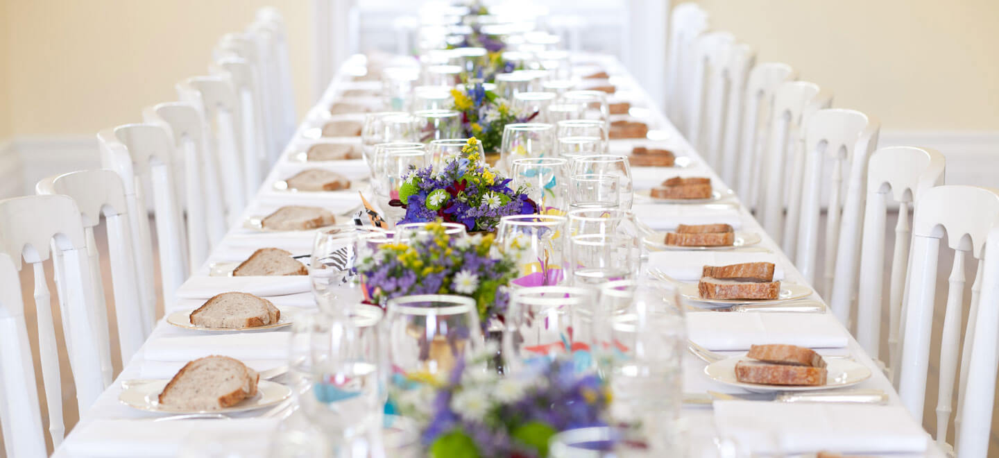 wedding breakfast in drawing room Reception style at Clissold House Stoke Newington Wedding Venue N16 via The Gay Wedding Guide