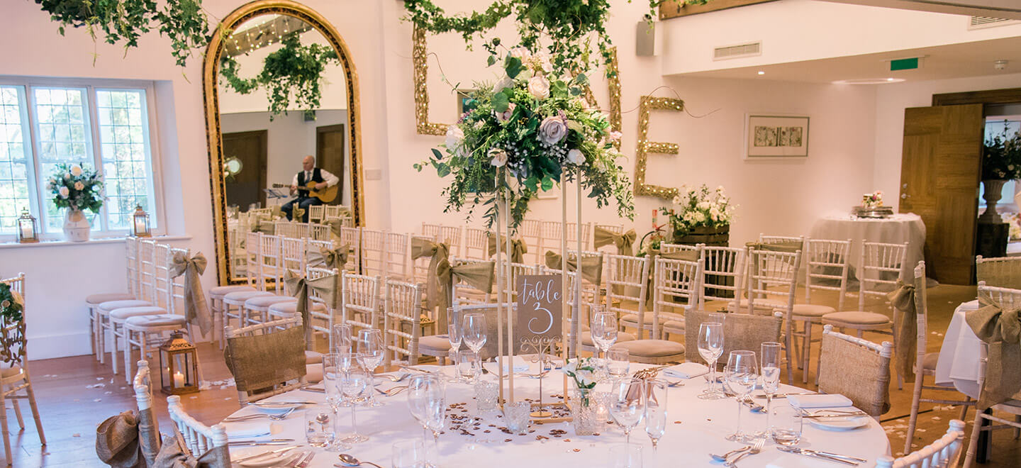 Wedding ceremony setting at Cotswold Wedding venue Cotswold house hotel gloucestershire gay wedding guide 1