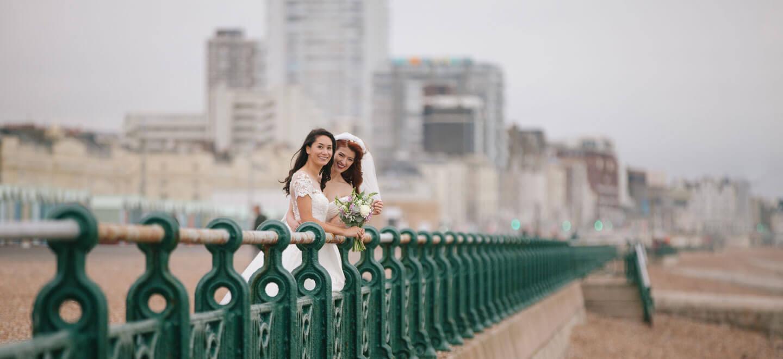 1440 Jessie and Claudias Brighton Beach Lesbian Wedding Shoot image copyright Rachel Movitz Weddings via the Gay Wedding Guide 1 2