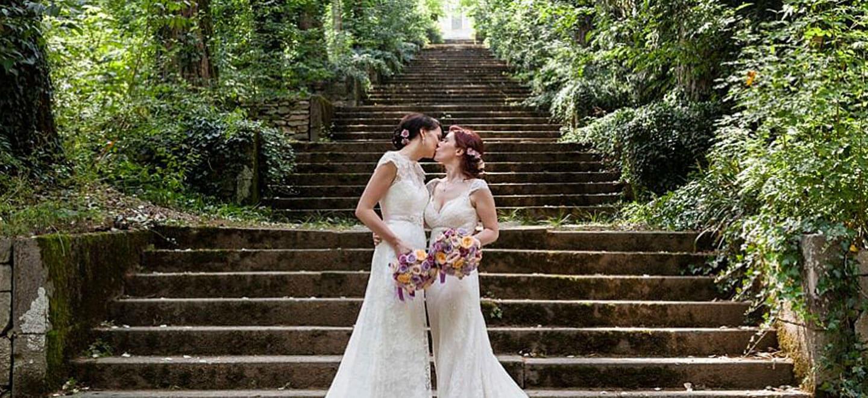 1440 brides kiss at lesbian destination wedding of Sara and Karen photograph by Paola de Paola Photography 3