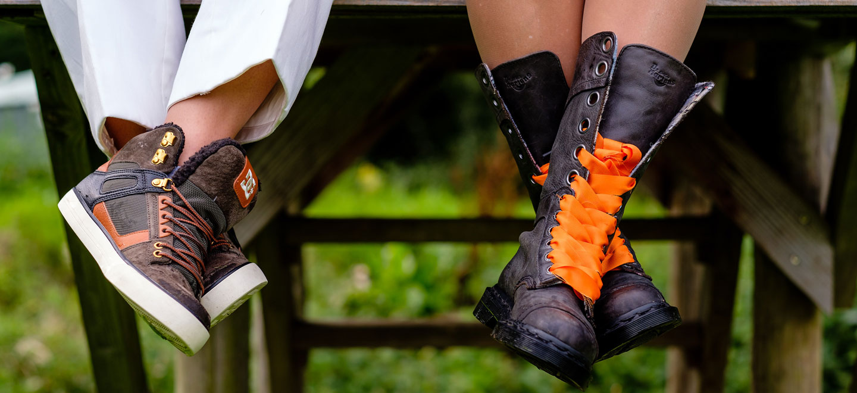 1440 real lesbian wedding orange theme gay wedding guide DonnaConnie Hayne Barn Wedding 375 4