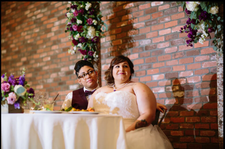 Amber and Alexis lesbian wedding speeches images by Laarne via gay wedding guide 1