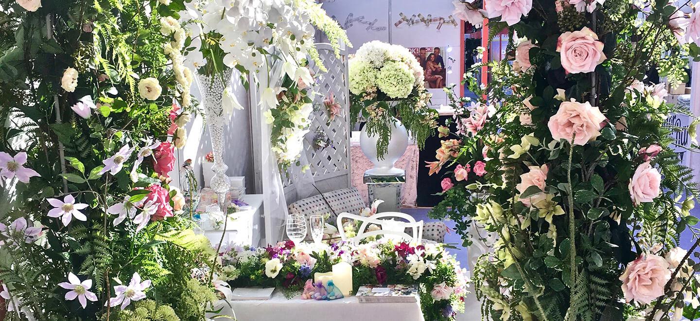 Floral arch by Jardins San Leau wedding florist on Drectory Gay Wedding Guide 1 1 6