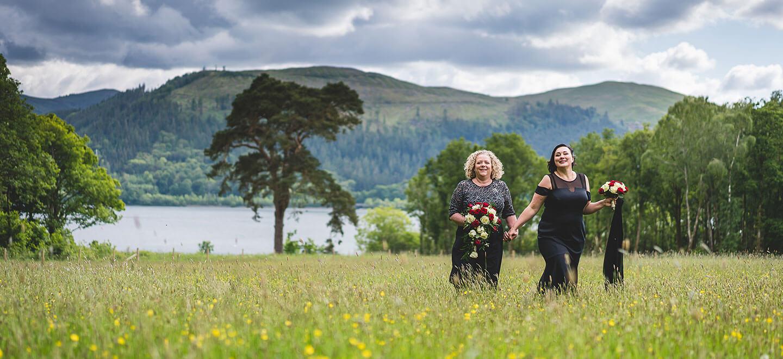 Karen Elena lake lesbian wedding photography Lake District wedding photographer Chris Freer Images Gay wedding Guide 6