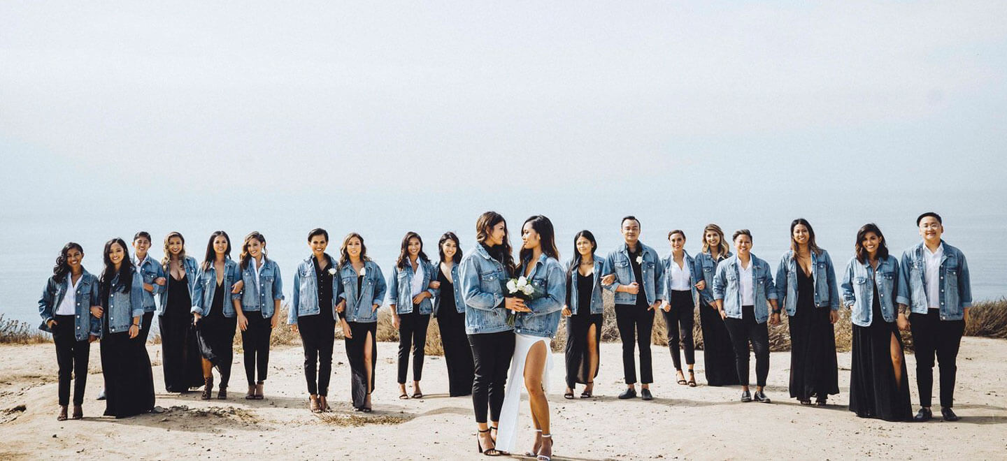 Kim and Kaycee with guests lesbian wedding photography by ruffmedia via the gaywedding guide 2