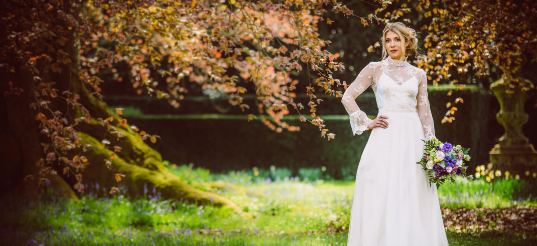 Lucy front wedding dress by lisa Lyons Bridal lesbian weddings gay wedding guide 6