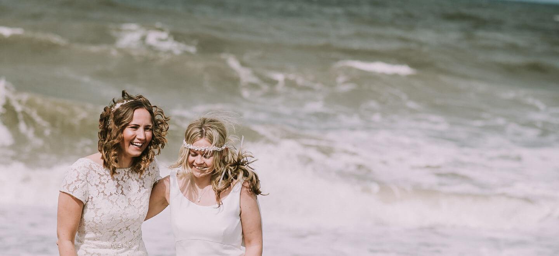 beach wedding Norfolk celebrant same sex wedding lesbian wedding 2 image by Luis Holden Photography 6