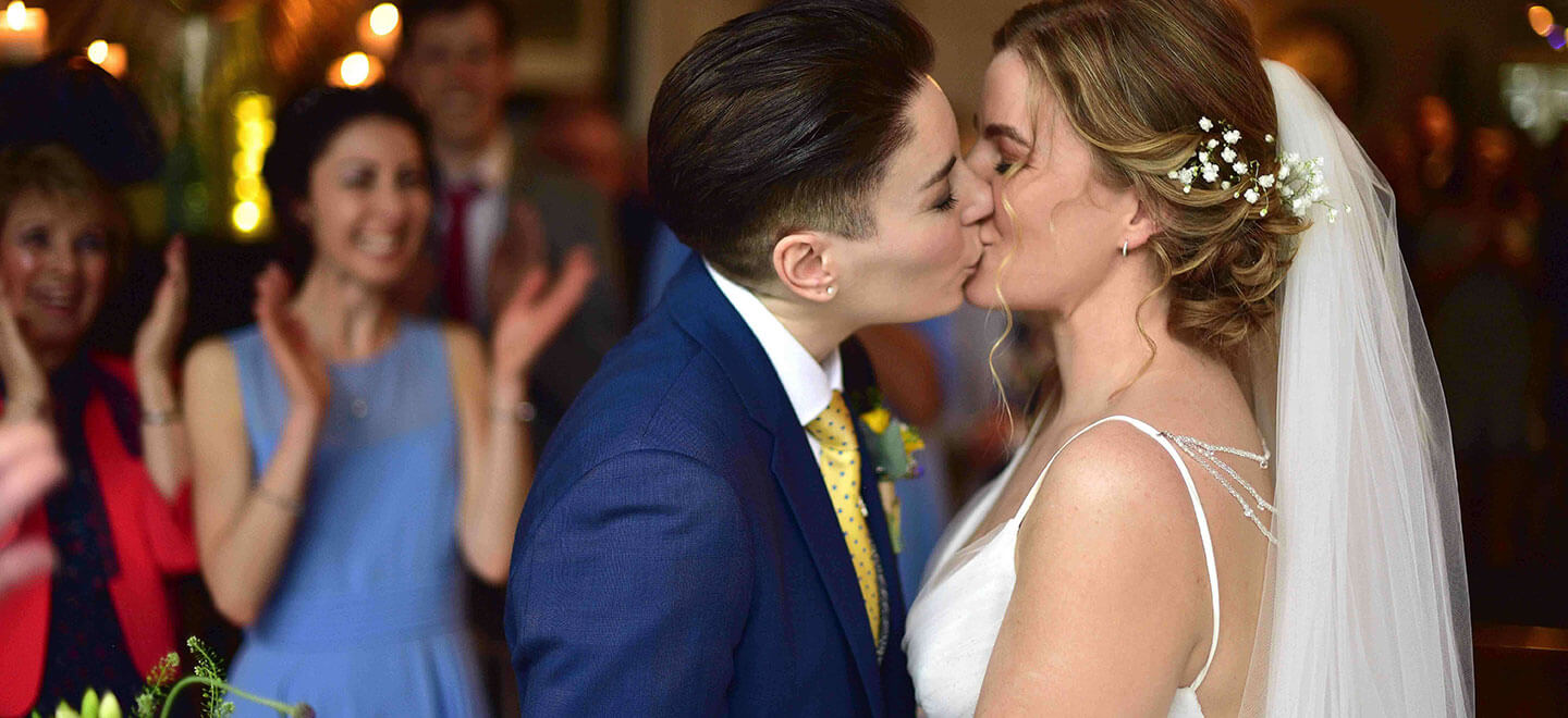 lesbian bridal suit Whitfield Ward gay lesbian wedding suit hire tailor Cheshire gay wedding guide 6