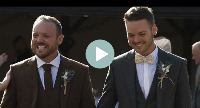 married Chris and Dan gay wedding essex video white dress films featured on the gay wedding guide 4