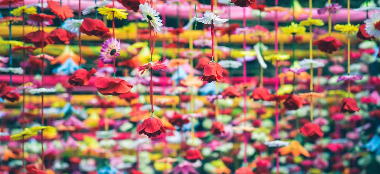 rainbow flower canopy wedding flowers by london florist shilpa reddy gay wedding guide 6